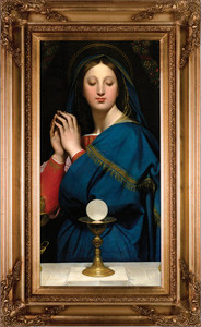 "Madonna of the Host 16""x32"" Canvas - Gold Museum Framed Art"