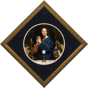 Madonna of the Host - Matted Gold Framed Art