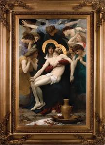La Pieta Canvas - Gold Museum Framed Art