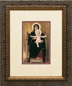 Virgin and Child Matted - Ornate Dark Framed Art
