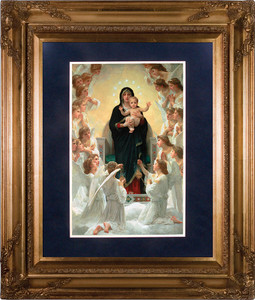 Queen of the Angels Matted - Gold Museum Framed Art