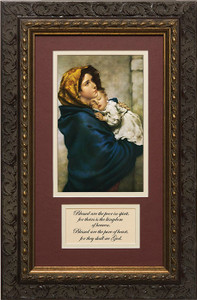 Madonna of the Streets Matted with Prayer - Ornate Dark Framed Art