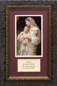 L'Innocence Matted with Prayer - Ornate Dark Framed Art