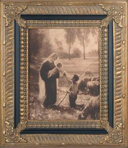 Gift of the Shepherd Canvas - Ornate Museum Framed Art