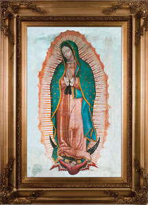 Our Lady of Guadalupe Canvas - Gold Museum Framed Art