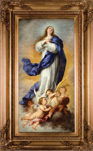 "Immaculate Conception 16""x32"" Canvas - Gold Museum Framed Art"