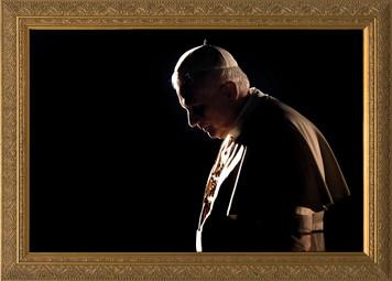 Pope Benedict in Prayer - Gold Framed Art