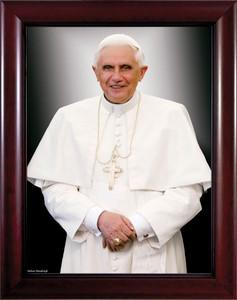 Pope Benedict Formal - Cherry Framed Art