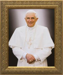 Pope Benedict Formal - Gold Framed Art