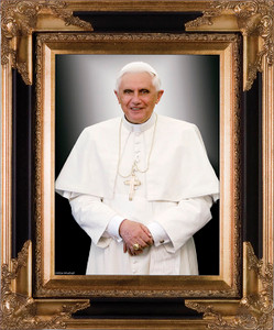 Pope Benedict Formal Canvas - Museum Framed Art