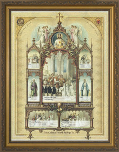 Celebration of the Sacraments Certificate Gold Framed