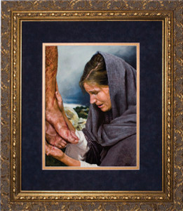 Mary's Sorrow by Jason Jenicke Matted - Ornate Gold Framed Art
