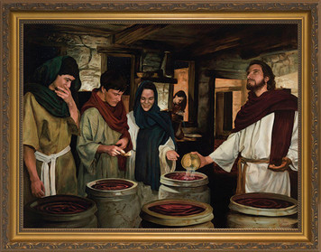 Wedding at Cana by Jason Jenicke - Standard Gold Framed Art