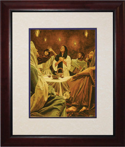 Descent of the Holy Spirit by Jason Jenicke Matted - Cherry Framed Art