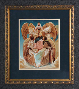 Coronation of Mary by Jason Jenicke Matted - Ornate Dark Framed Art