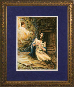 Annunciation by Jason Jenicke Matted - Standard Gold Framed Art
