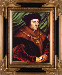 St. Thomas More Canvas - Black and Gold Museum Framed Art