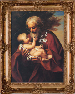 St. Joseph (Older) Canvas - Gold Museum Framed Art