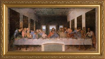 Last Supper by Da Vinci Canvas - Standard Gold Framed Art