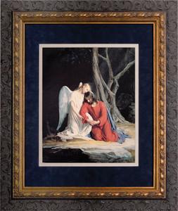 Gethsemane Matted - Ornate Dark Framed Art