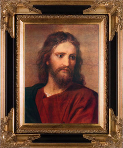 Christ at 33 by Hoffman Canvas - Black and Gold Museum Framed Art