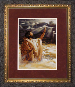 Ascension into Heaven Matted - Ornate Dark Framed Art