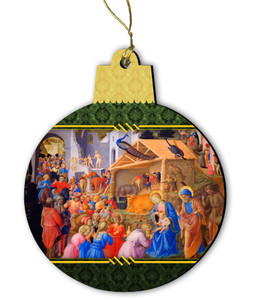 Adoration of the Magi Wood Ornament