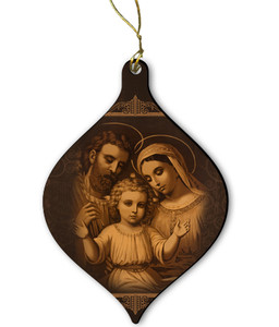 Holy Family (Antique) Wood Ornament