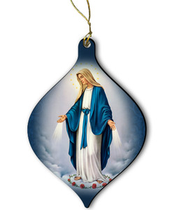 Our Lady of Grace Wood Ornament
