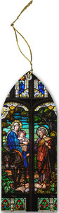 Flight into Egypt Stained Glass Wood Ornament