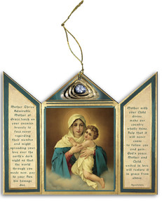 Schoenstatt Madonna Triptych Wood Ornament