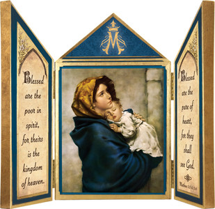 Madonna of the Streets Triptych Plaque