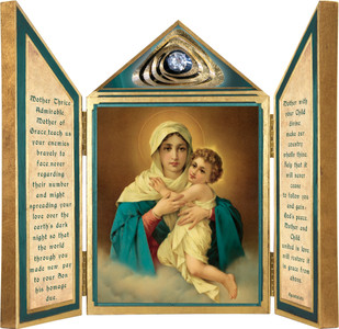 Schoenstatt Madonna Triptych Plaque