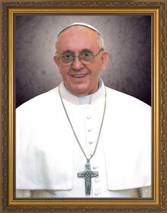 Pope Francis Formal Portrait: Standard Gold Frame