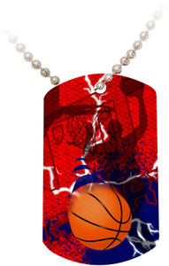 """Doing It All"" Basketball Dog Tag"