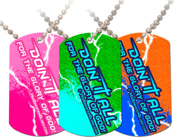 """Doing It All"" Graphic Dog Tag"