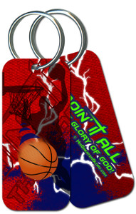 """Doing It All"" Basketball Keychain"