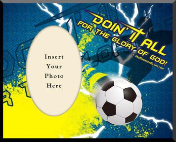 """""""Doing It All"""" Soccer Photo Frame"""