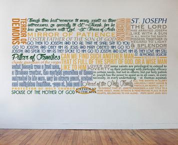 Saint Joseph Quote Wall Decal