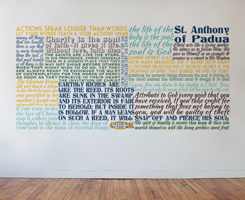 Saint Anthony of Padua Quote Wall Decal
