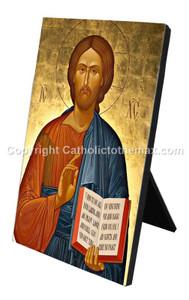 Christ Pantocrator (Gold) Icon Desk Plaque