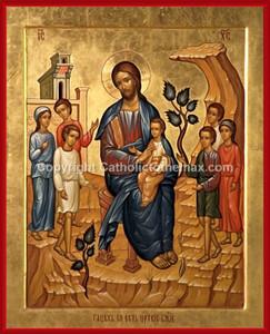 """Let the Children Come Unto Me"" Icon Wall Plaque"