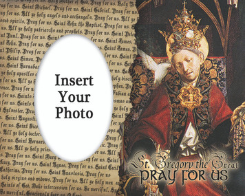 St. Gregory the Great Photo Frame