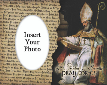 St. Isidore of Seville Photo Frame