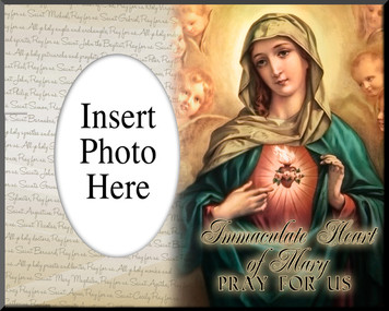 Immaculate Heart of Mary Photo Frame