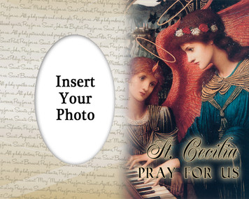 St. Cecilia Photo Frame