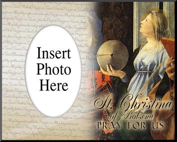 St. Christina of Bolsena Photo Frame