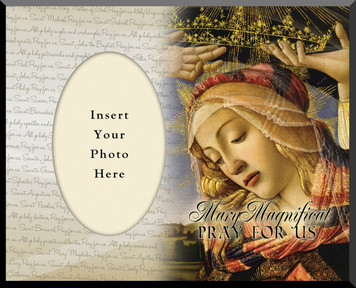 Mary Magnificat Photo Frame