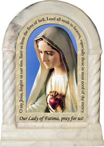 Our Lady of Fatima Prayer Desk Shrine