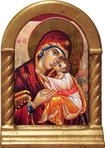 Icon of Mary Desk Shrine